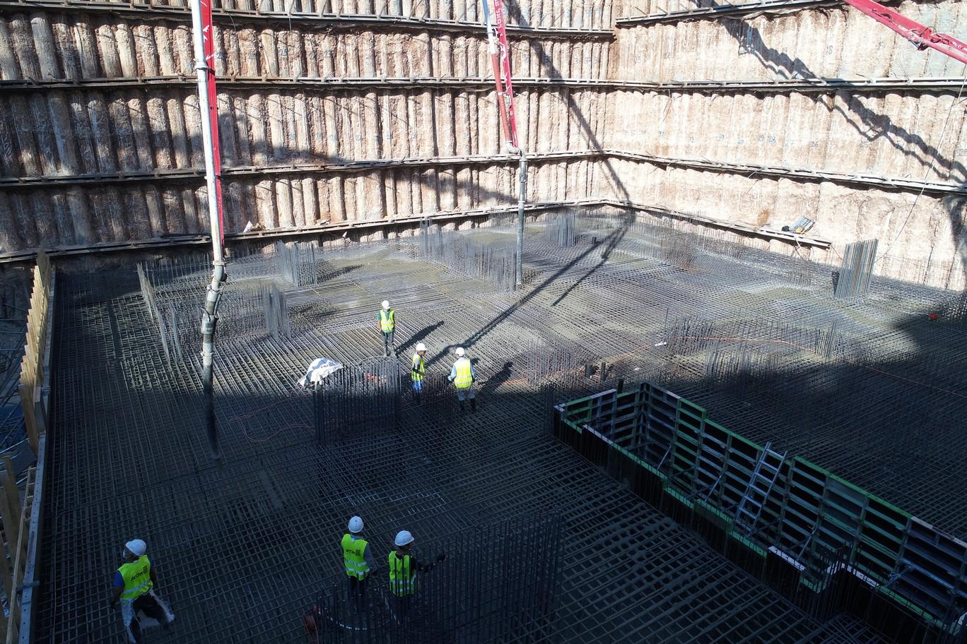 יציקת רפסודה יסודות חניון תת קרקעי 5- 07.10.2020