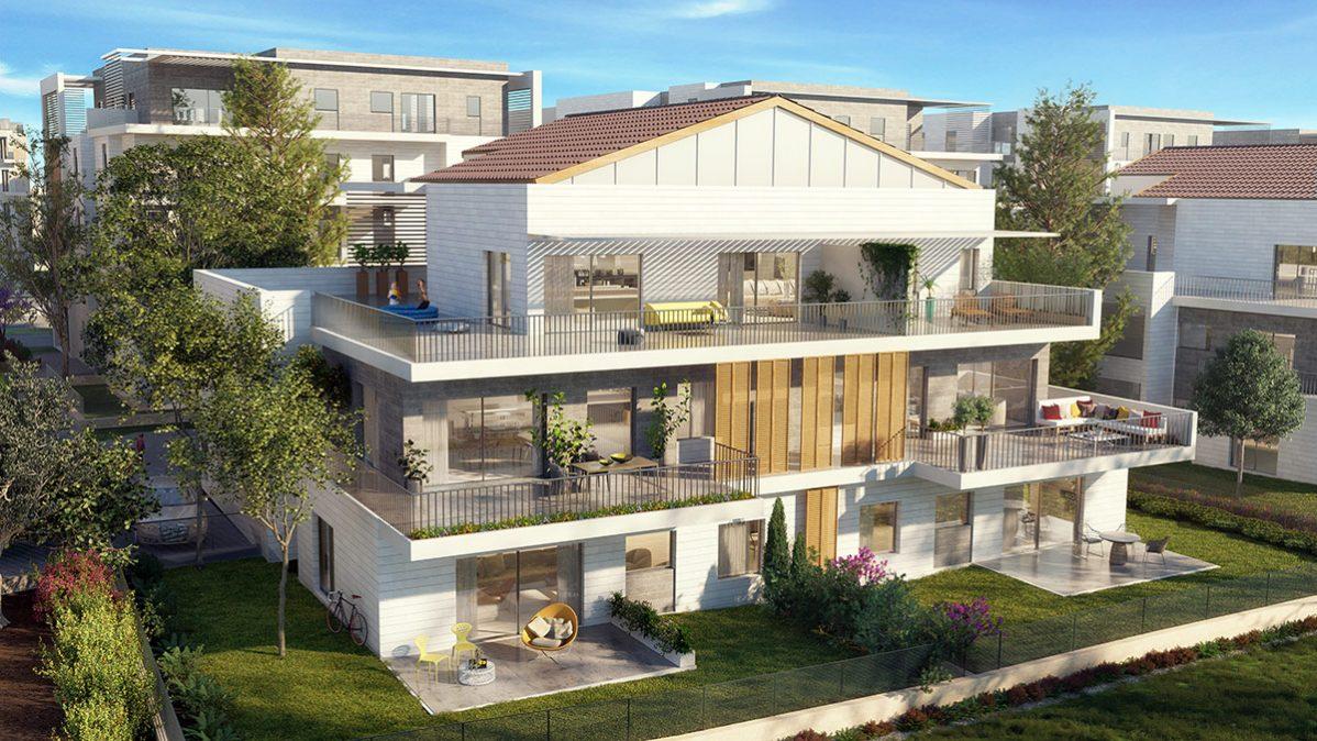 פרויקט אלמוג שוהםA-LA-PARK- הדמיית בניינים מדגם A