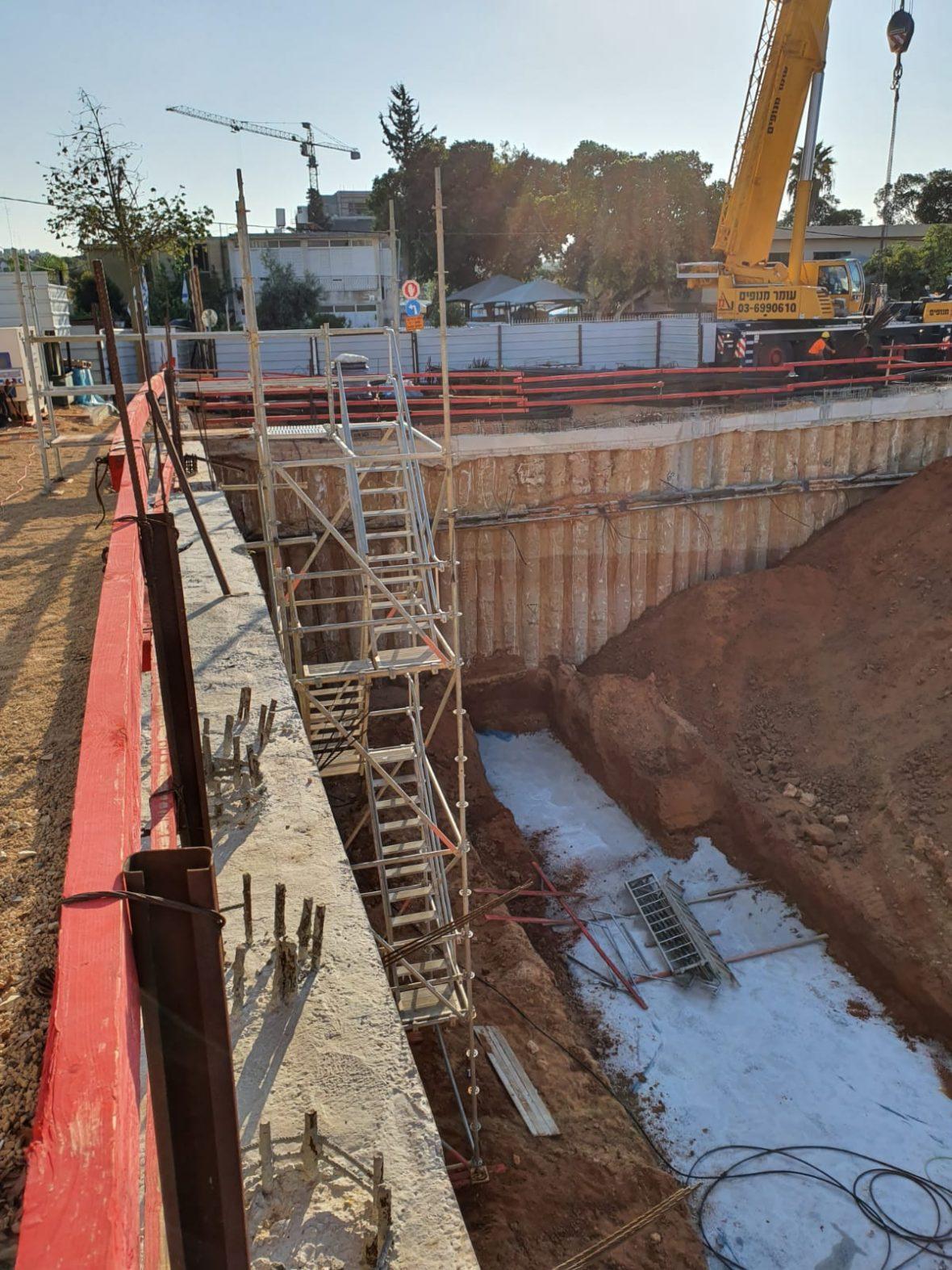 סטטוס בניה- סיום חפירות לתחתית היסודות לפרויקט. 25.10.2019