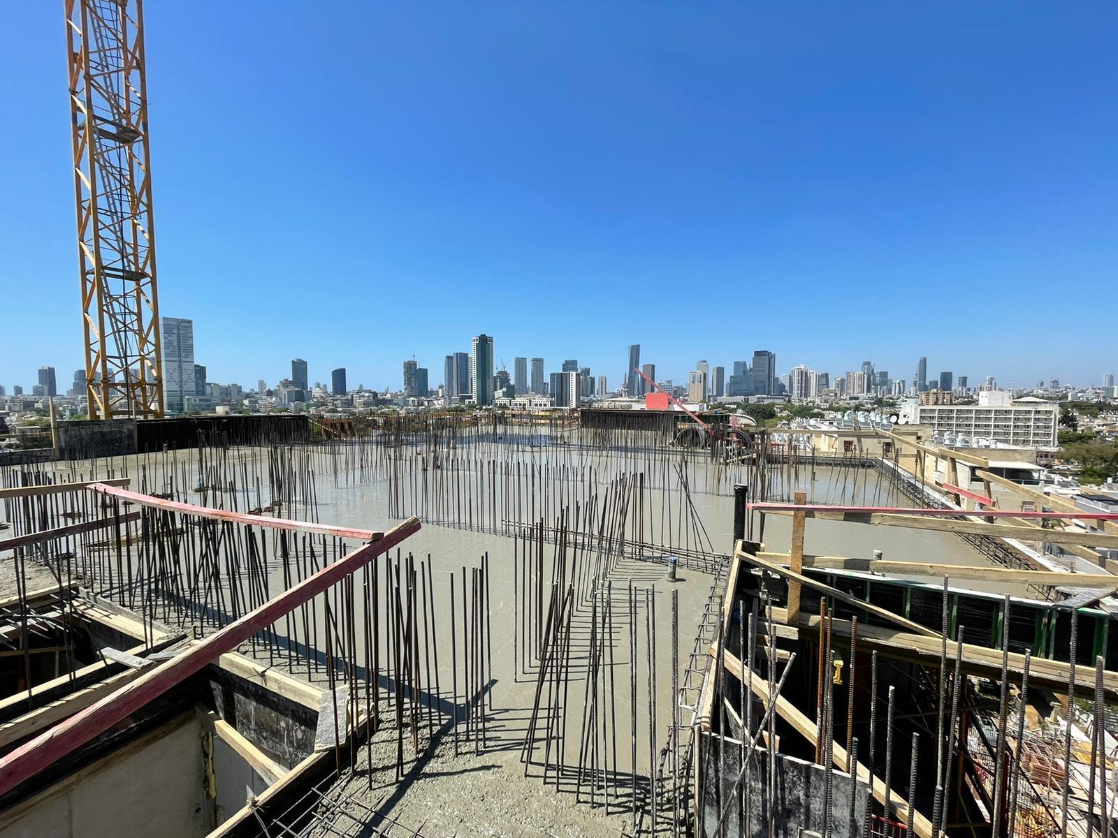 עבודות שלד קומה 6 טיח חזיתות 25.05.2021