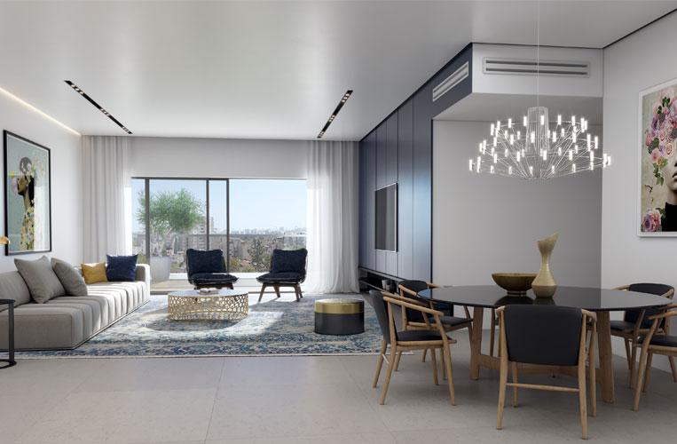 פרויקט אלמוג כרמל מערב, הדמיית דירת 5 חדרים