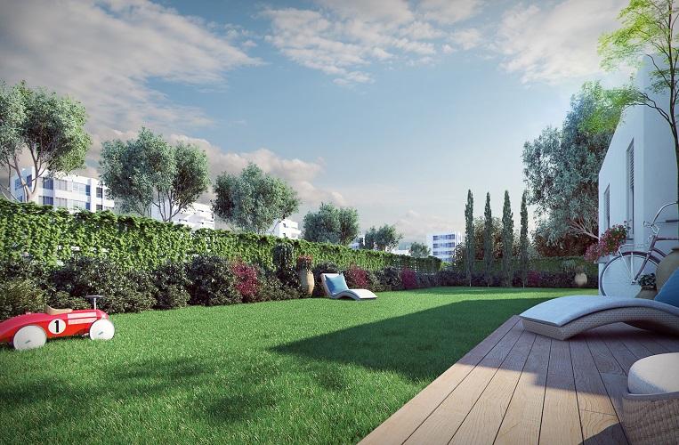 הדמיית דירת גן - פרויקט יגאל אלון הרצליה