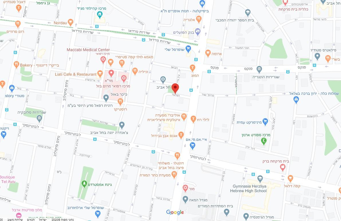 מפת אזור הפרויקט - הגלעד, רובע 3, תל אביב
