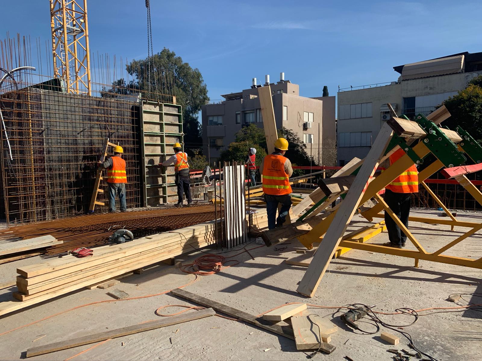 סיום עבודות בנייה במרתף ותחילת שלד קומה ראשונה 23.02.2021