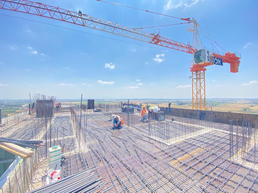 בנין 102 ו- 103 סיום עבודות שלד ריצופים ומערכות בקומות הגבוהות 25.05.2021