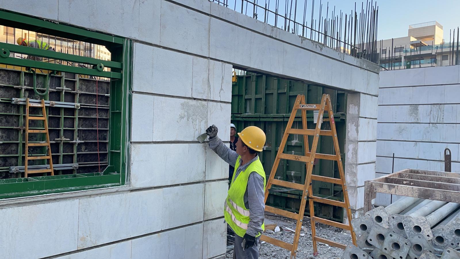 עבודות תקרה קומה ראשונה 12.08.2021