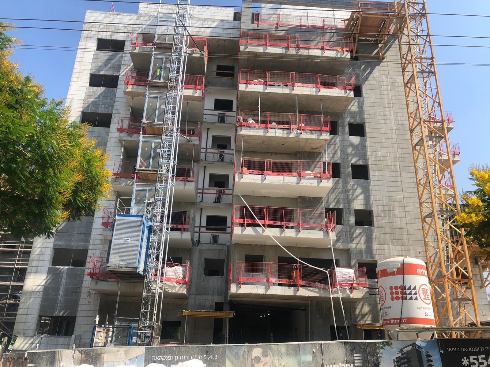 עבודות סיום שלד חשמל ואינסטלציה קומות 5,6  התחלת עבודות ריצוף 08.07.2021