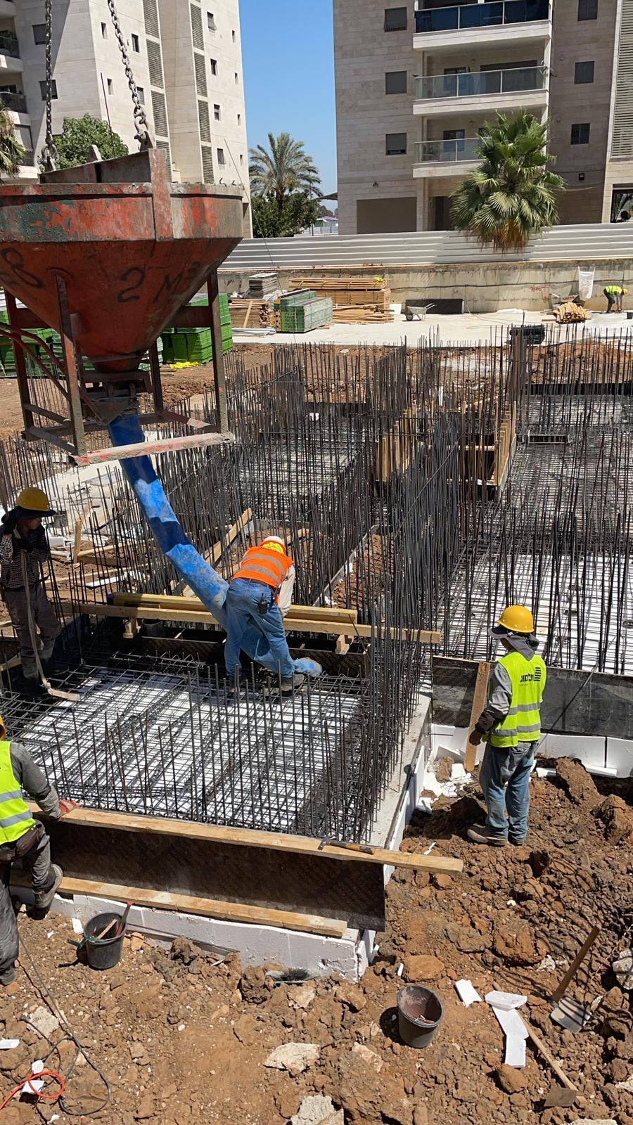 עבודות שלד קירות קומת קרקע 08.07.2021